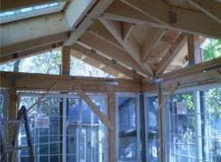 Sunroom addition framing in progress