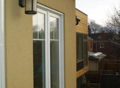 Rear addition from balcony