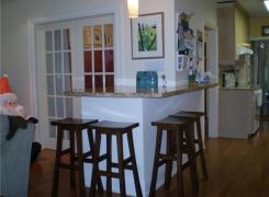 New kitchen sitting area