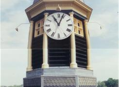 Restored Cupola Shingles, Clock Face, Trim & Railing