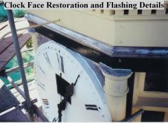 Restoration of Clock Face, Colonettes, Windows & Flashing Details
