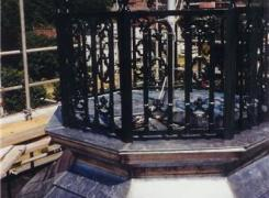 Top of Cupola with Restored Shingles, Railing and Flagpole