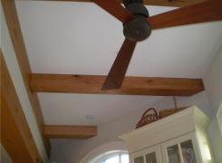 New addition ceiling beam detail