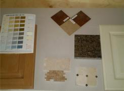 Interior finish samples