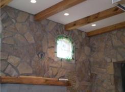 Rear Addition Stone Facing Timber Beams