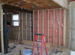 Rear addition insulation & framing stage