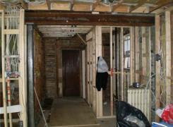 Interior renovations in progress