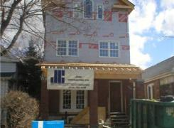 Second and third storey and front porch additions in progress