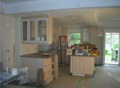 Kitchen cabinets in progress