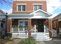 Completed new front verandah and front wall masonry