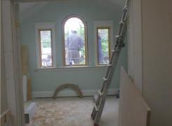 Third floor interior finishing in progress