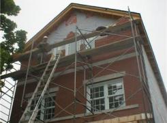Front Wall masonry in progress