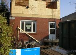 Second storey addition in progress