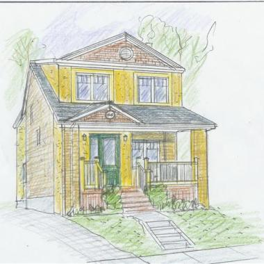 City House Renovation - Coloured Pencil Drawings