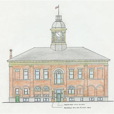 Port Hope Town Hall - Pencil Drawing