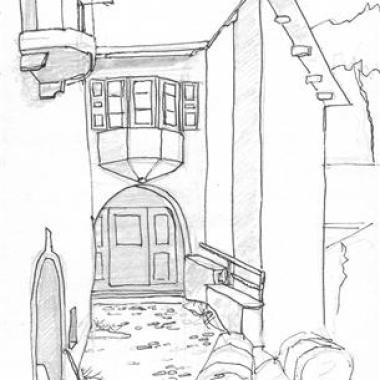 Guarda House - Pencil and In Sketch