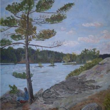 Charleston Pines = Acrylic Painting
