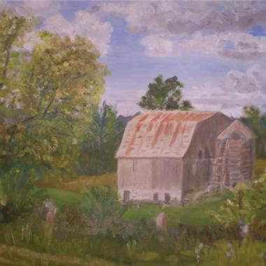 Charleston Barn - Oil Painting