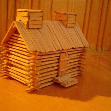 Log Cabin Model - Toothpick