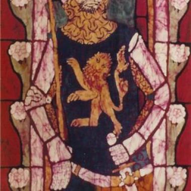 Knight of Tewksbury Abbey - Batik Wall Hanging