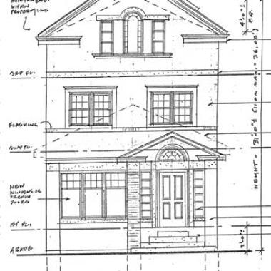 Residential Renovation - Elevation Pencil Drawing