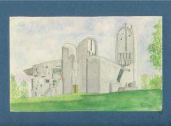 Ronchamp Chapel - Watercolour