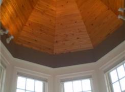 Front bay with cedar ceiling