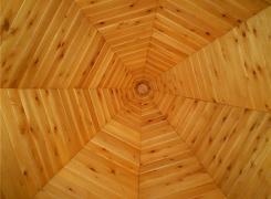 Octagonal cedar ceiling
