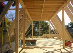 Third floor framing in progress