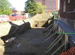Excavation preparation for foundation