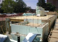 Insulated concrete foundation forms