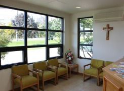 New Central Lobby Reception Area with view to Kingston Road