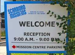 Main Reception Sign