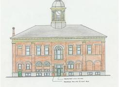Port Hope Town Hall West Elevation - Barrier Free Access Project & Cupola Restoration