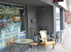Outdoor seating at the Cafe