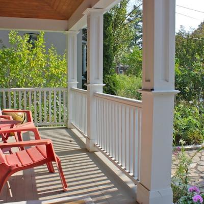 New front verandah detail & stone walkway