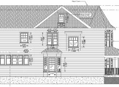Side Elevation Working Drawing