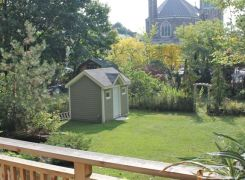New garden shed from deck