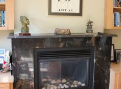 New gas fireplace detail