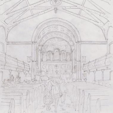 St. Andrews Church - Pencil Sketch