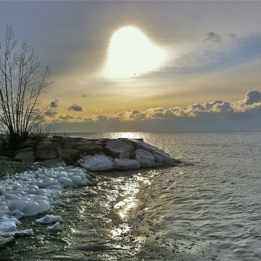Winter Sunrise over Lake Ontario