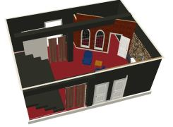 Theatre set design for production of Mercury Fur by Seven Siblings Theatre