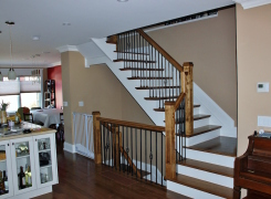 New interior stairs and kitchen