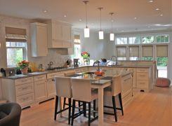 New kitchen area with sunken breakfast sunroom walk out beyond