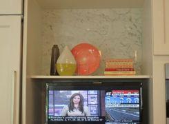 Media area in kitchen
