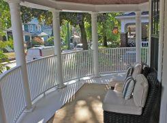New curved verandah railing