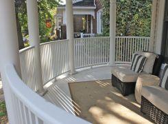 Curved front verandah railing