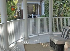 Curved front verandah railing and roof