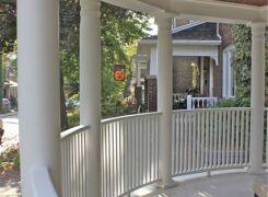 Curved front verandah
