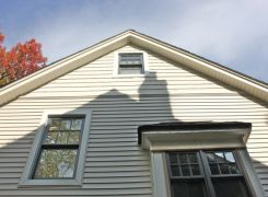 New windows, decorative gable siding and roofing